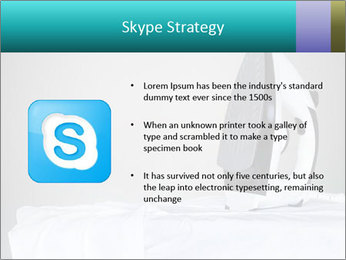Ironing a white shirt PowerPoint Template - Slide 8