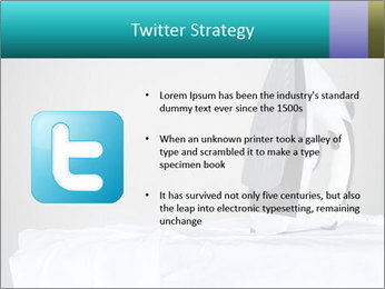 Ironing a white shirt PowerPoint Templates - Slide 9