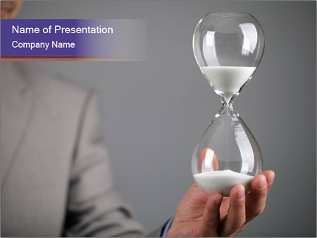 Hourglass timer PowerPoint Template