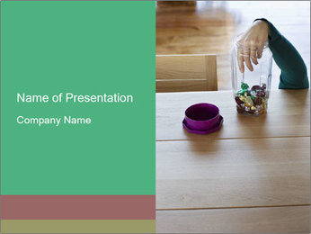 Woman's hand PowerPoint Template - Slide 1
