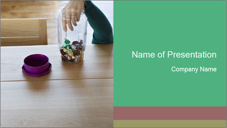 Woman's hand PowerPoint Template