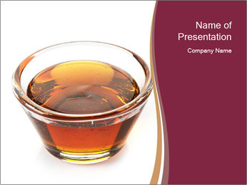 Maple syrup PowerPoint Template - Slide 1