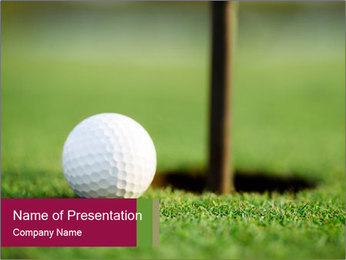 Golf ball PowerPoint Templates - Slide 1