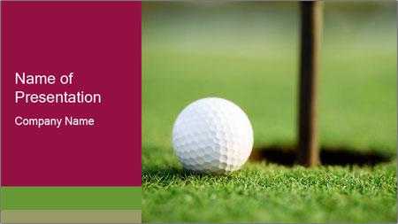 Golf ball PowerPoint Template