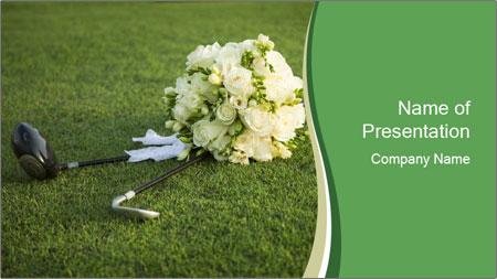 Wedding bouquet PowerPoint Template
