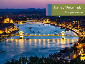 Night view PowerPoint Template - Slide 1