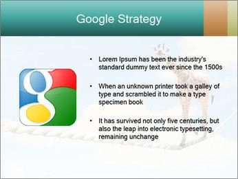 Giraffe walking PowerPoint Template - Slide 10
