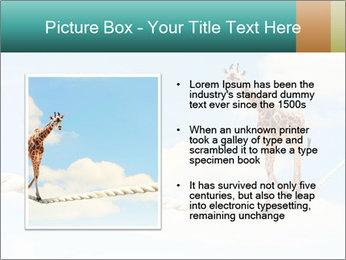 Giraffe walking PowerPoint Template - Slide 13