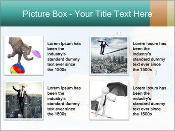 Giraffe walking PowerPoint Template - Slide 14