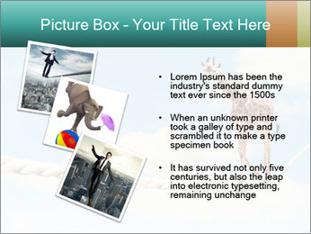 Giraffe walking PowerPoint Template - Slide 17
