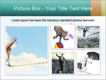 Giraffe walking PowerPoint Template - Slide 19