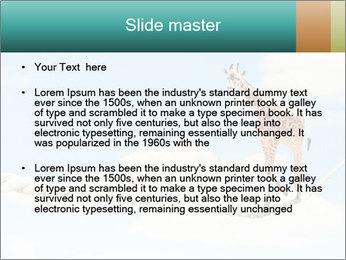 Giraffe walking PowerPoint Template - Slide 2