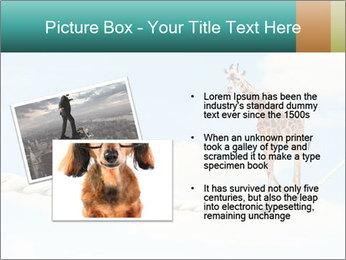 Giraffe walking PowerPoint Template - Slide 20
