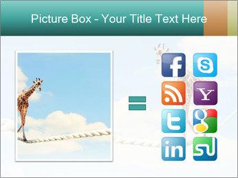 Giraffe walking PowerPoint Template - Slide 21