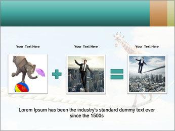 Giraffe walking PowerPoint Template - Slide 22
