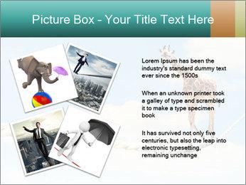 Giraffe walking PowerPoint Template - Slide 23