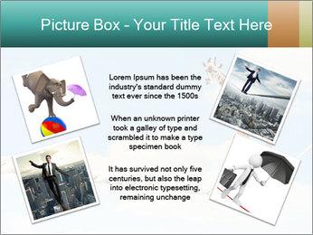 Giraffe walking PowerPoint Template - Slide 24