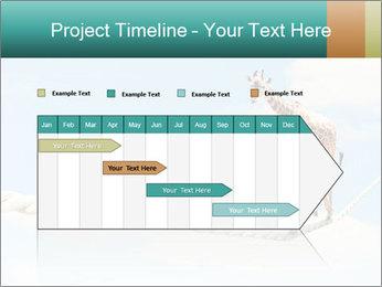 Giraffe walking PowerPoint Template - Slide 25