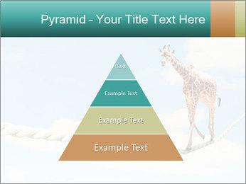 Giraffe walking PowerPoint Template - Slide 30