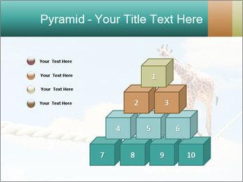 Giraffe walking PowerPoint Template - Slide 31