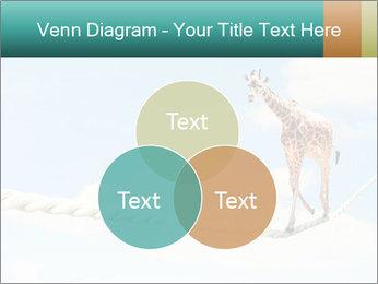 Giraffe walking PowerPoint Template - Slide 33