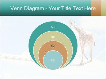Giraffe walking PowerPoint Template - Slide 34