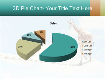 Giraffe walking PowerPoint Template - Slide 35