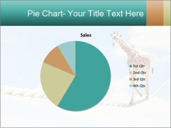 Giraffe walking PowerPoint Template - Slide 36