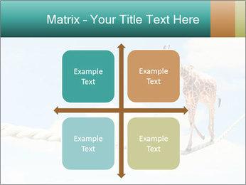Giraffe walking PowerPoint Template - Slide 37