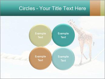 Giraffe walking PowerPoint Template - Slide 38