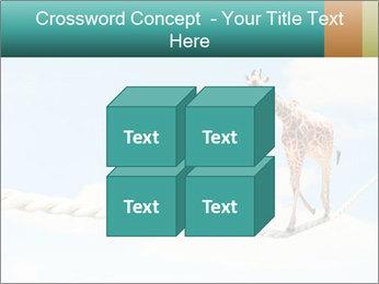 Giraffe walking PowerPoint Template - Slide 39