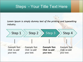 Giraffe walking PowerPoint Template - Slide 4