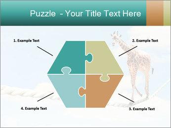 Giraffe walking PowerPoint Template - Slide 40