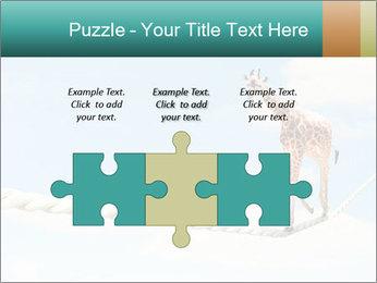Giraffe walking PowerPoint Template - Slide 42