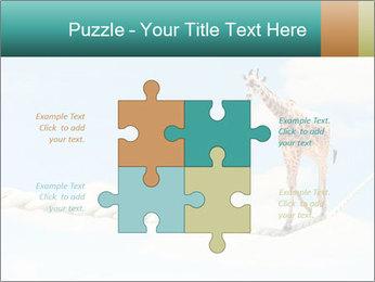 Giraffe walking PowerPoint Template - Slide 43