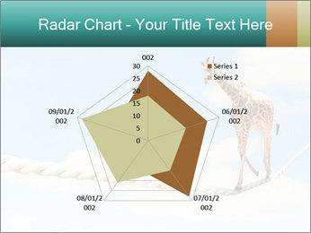 Giraffe walking PowerPoint Template - Slide 51