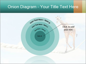 Giraffe walking PowerPoint Template - Slide 61