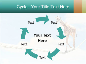 Giraffe walking PowerPoint Template - Slide 62