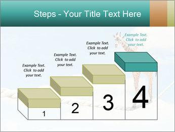 Giraffe walking PowerPoint Template - Slide 64