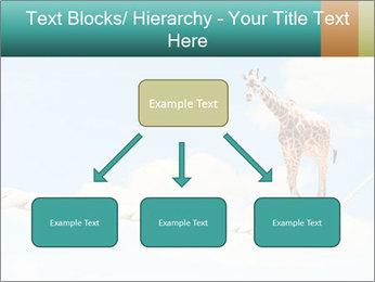 Giraffe walking PowerPoint Template - Slide 69