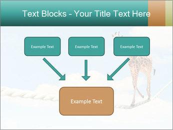 Giraffe walking PowerPoint Template - Slide 70