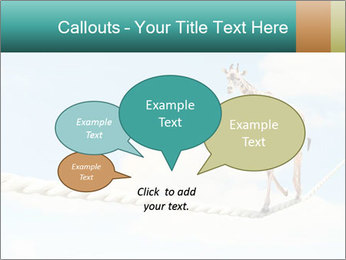 Giraffe walking PowerPoint Template - Slide 73