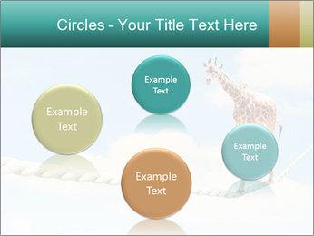 Giraffe walking PowerPoint Template - Slide 77
