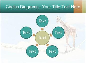 Giraffe walking PowerPoint Template - Slide 78