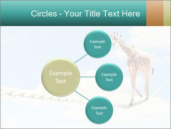 Giraffe walking PowerPoint Template - Slide 79