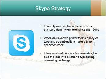 Giraffe walking PowerPoint Template - Slide 8