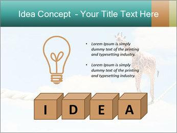 Giraffe walking PowerPoint Template - Slide 80