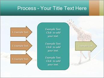 Giraffe walking PowerPoint Template - Slide 85