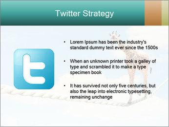 Giraffe walking PowerPoint Template - Slide 9