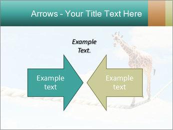 Giraffe walking PowerPoint Template - Slide 90